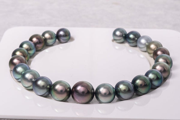 22pcs MULTI Bracelet Style 8-10mm A/AA quality Tahitian Pearl - BUY Tahitian Pearls jewellery wholesale - CMWPEARLS.COM