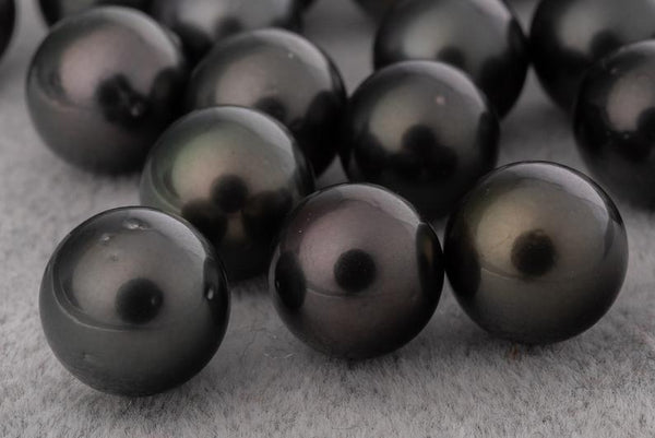 A+ Round Dark Mix 10mm - BUY Tahitian Pearls jewellery wholesale - CMWPEARLS.COM