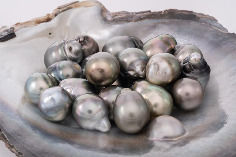 23pcs Light Olive SB A+ quality 11-13mm Tahitian Pearl - BUY Tahitian Pearls jewellery wholesale - CMWPEARLS.COM