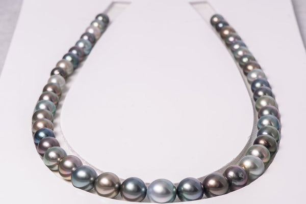 44pcs MULTI necklace 8-10mm AA/AAA quality Tahitian Pearl - BUY Tahitian Pearls jewellery wholesale - CMWPEARLS.COM