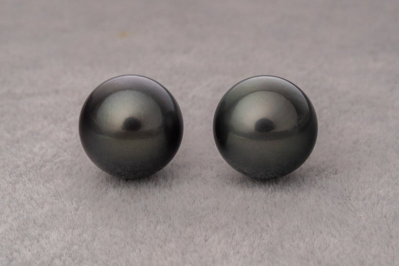 10pcs 13mm Round AAA Dark Tahitian Pearl - BUY Tahitian Pearls jewellery wholesale - CMWPEARLS.COM