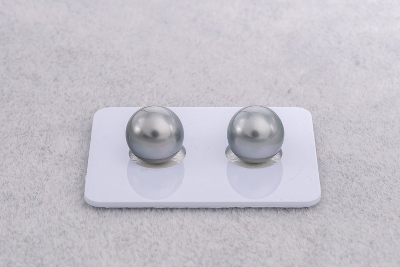 10.2mm Matched Pearl Grey Silver Color AAA quality