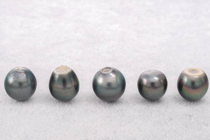 18pcs pack Dark Green Blue SB A+ Tahitian Black Pearl