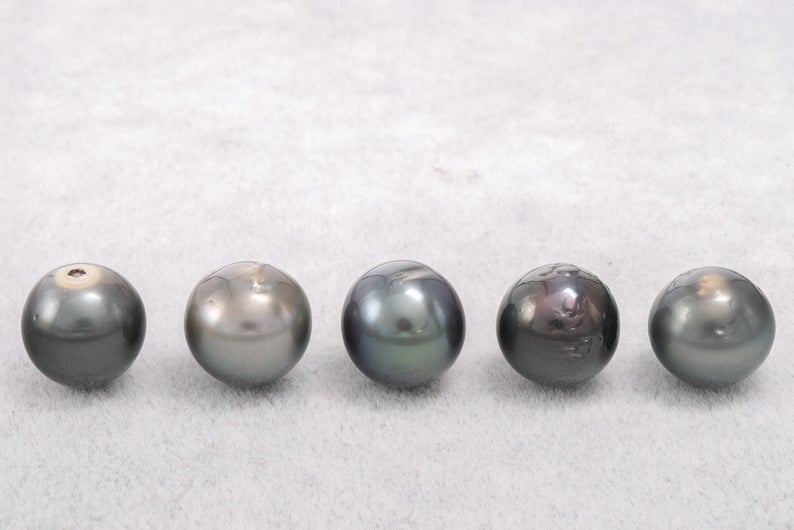 20pcs pack Green Blue Mix SB to NR A+ Tahitian Black Pearl