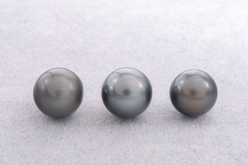 11pcs Special Wholesale Price - Dark Mix 13-14mm Semi-Baroque A+ Tahitian Pearl