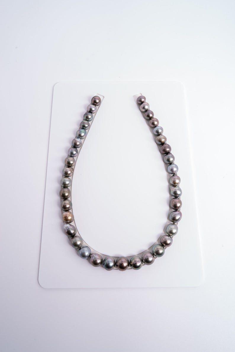 37pcs Necklace - Bronze Tone Multi Color 11-12mm - SB AAA quality