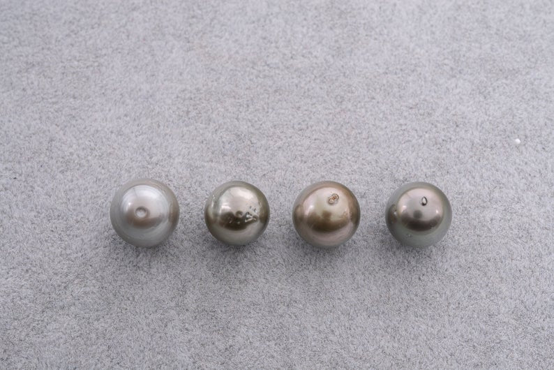 11pcs Special Wholesale Price - Shell Light 11-12mm Semi-Baroque Tahitian Pearl