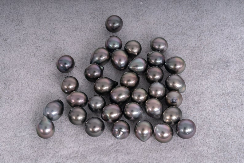 34pcs Whole Lot - Cherry Drop 8mm Tahitian Pearls (AAA quality)