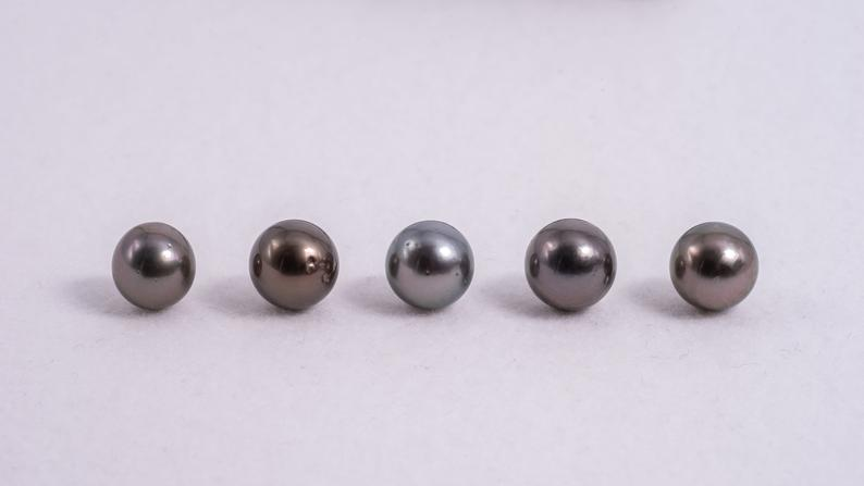 33pcs 10-13mm Round A quality Cherry Mix Tahitian Pearls