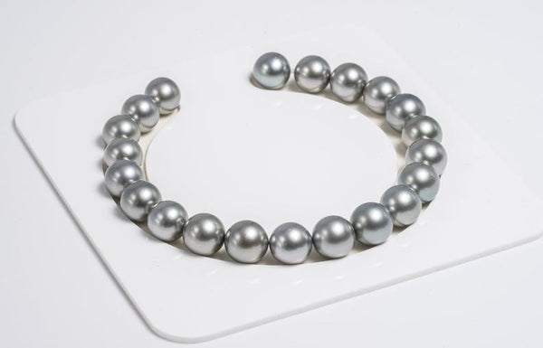 21pcs Grey 9mm Bracelet Round AAA quality