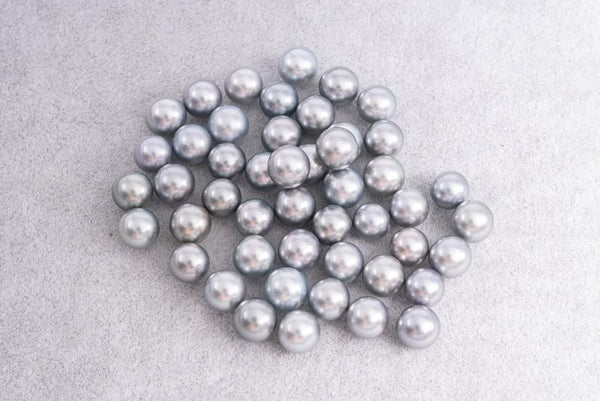 Silver Blue & Green 8mm Round TOP quality Tahitian Pearl