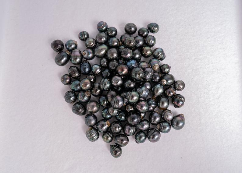 94pcs 8-10mm Circle A+Tahitian Pearls
