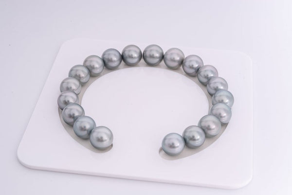 19pcs Silver Grey 10mm Bracelet Round AAA quality