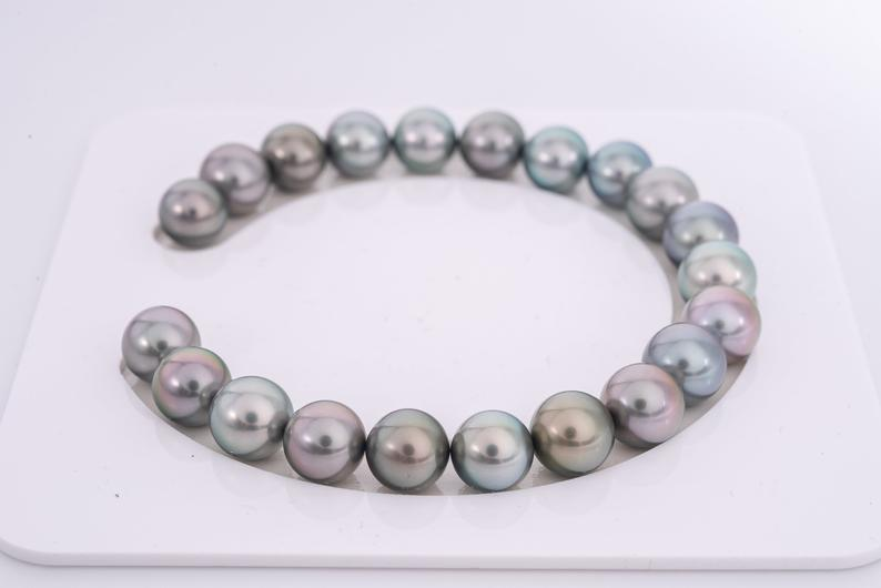 21pcs Grey Tone Pastel 9mm Bracelet Round TOP quality