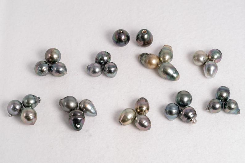 11-13mm Long Circle AA Mix Tahitian Pearls