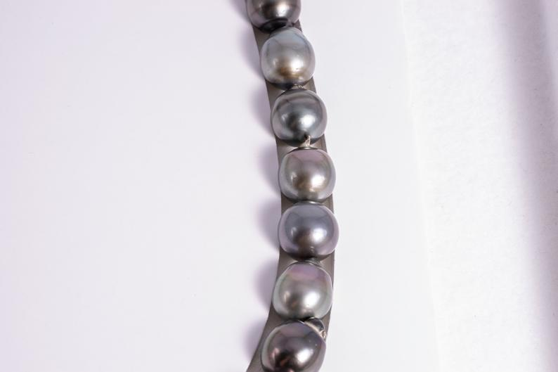 27pcs SB/CL 13mm necklace AA quality Tahiti Black Pearla