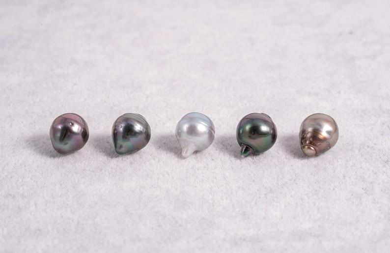 10mm Circle(longer) Pastel Color - AAA quality Tahitian Pearl