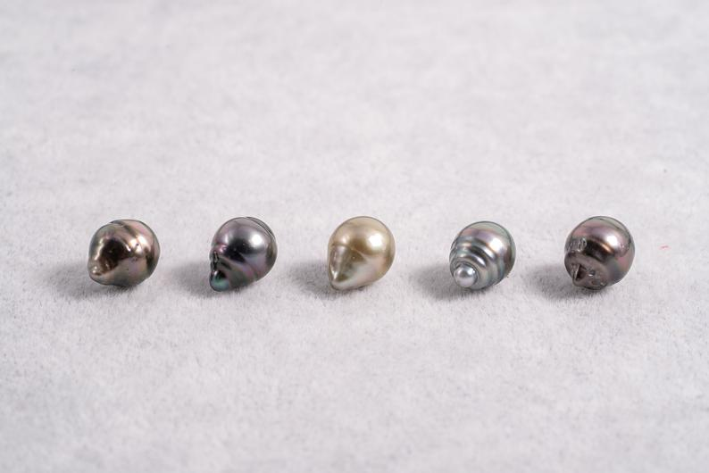 9mm Circle(longer) Pastel Color - AAA quality Tahitian Pearl