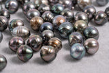 9mm Circle(Shorter) Pastel Color - AAA quality Tahitian Pearl
