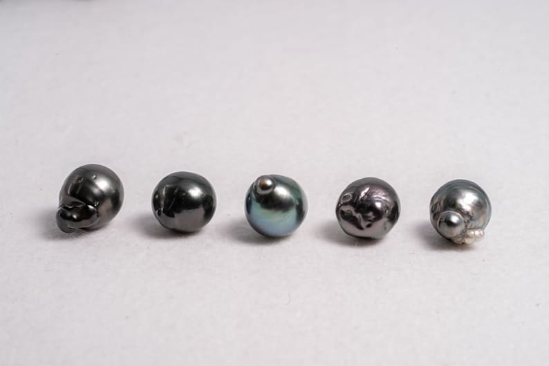 50pcs 12-14mm Baroque Blue Green Mixed grade Tahitian Pearls