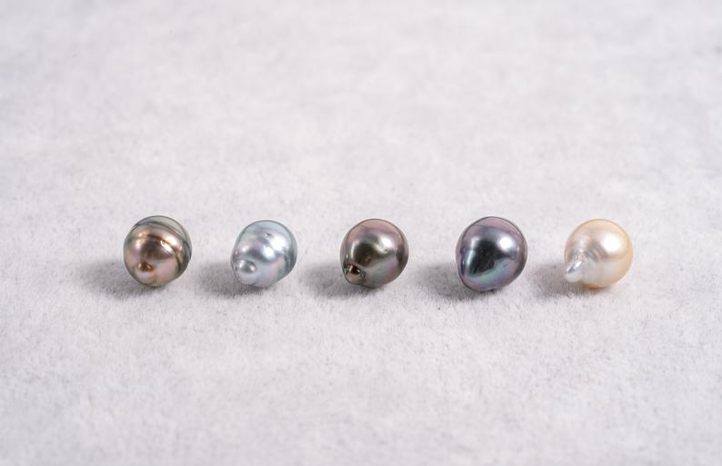8mm Circle(longer) Pastel Color - AAA quality Tahitian Pearl