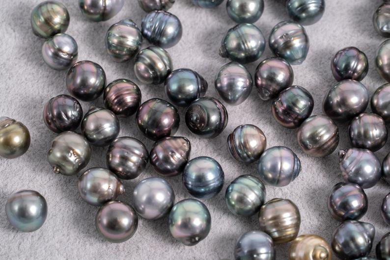 8mm Circle(Shorter) Pastel Color - AAA quality Tahitian Pearl