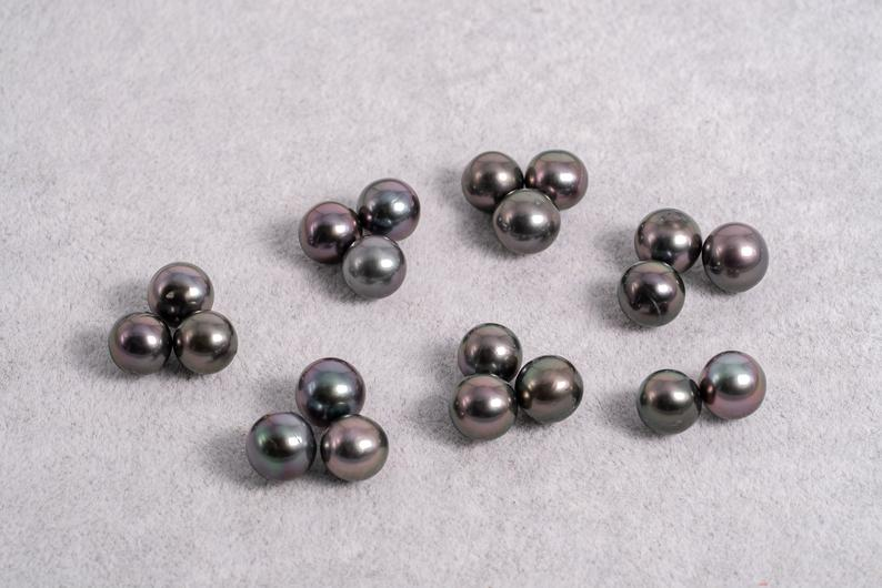 20pcs Cherry Color - Near Round 9mm AA quality Tahitian Pearl