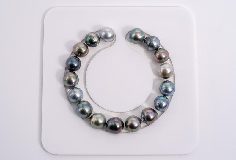 "17pcs ""Twins II"" Multi Bracelet - Circle 10mm AAA quality Tahitian Pearl"