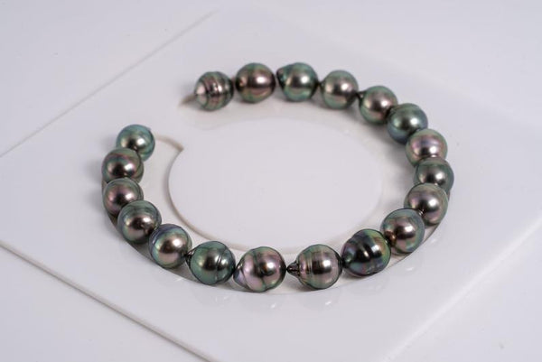 "19pcs ""Peacock Chronicles II"" Bracelet - Circle 8mm AAA/AA quality Tahitian Pearl"