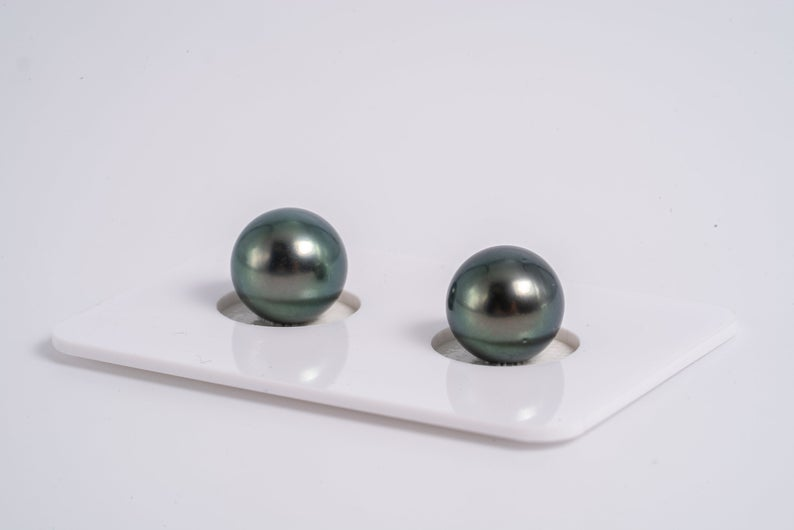 9mm Matched Pearl Green Color Round AA quality