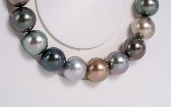 "18pcs ""Sweet"" Fancy Color Bracelet - Round 10mm AAA quality Tahitian Pearl"