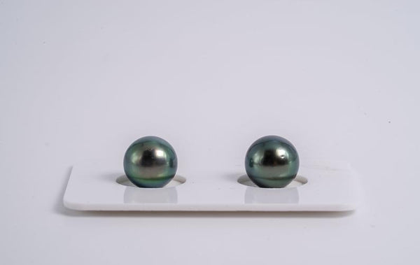 9mm Matched Pearl Green Color - Semi-Round AA quality