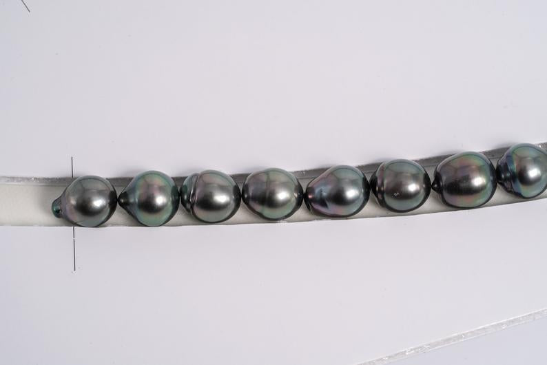 33pcs Special Price Green Necklace - SB 10-11mm AA quality Tahitian Pearl