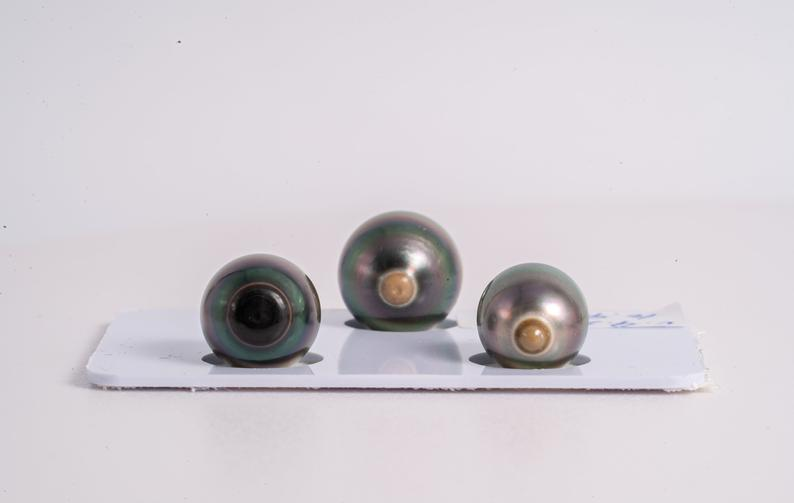Select Your Own Trio - Semi-Baroque A+ quality Tahitian Pearl