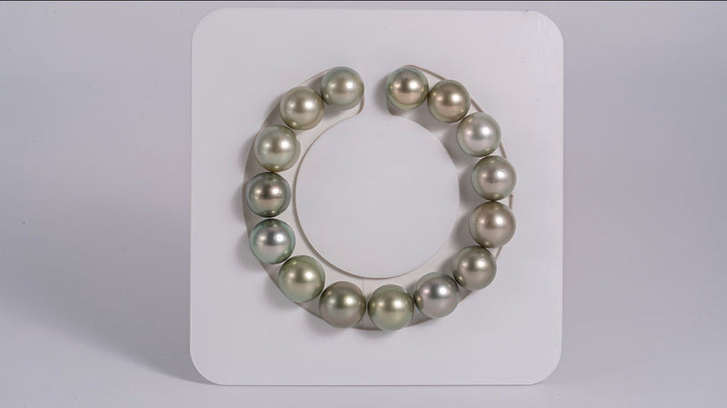 "Balanced payment for ""Apple Green"" Color 11-12mm - Pearl Bracelet Round AAA quality"