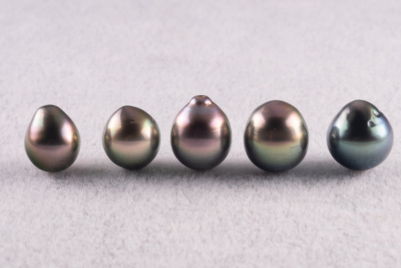 LOT 1 - R/SR - AB - Green Mix -  8-13mm - BUY Tahitian Pearls jewellery wholesale - CMWPEARLS.COM