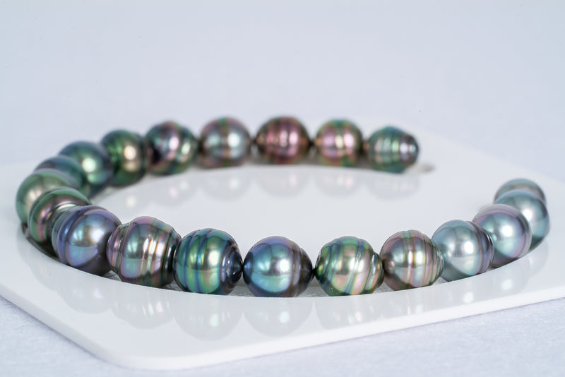 "EPIC Multi Color 20pcs ""Feeling"" Bracelet - Circle 8-10mm AAA quality Tahitian Pearl"