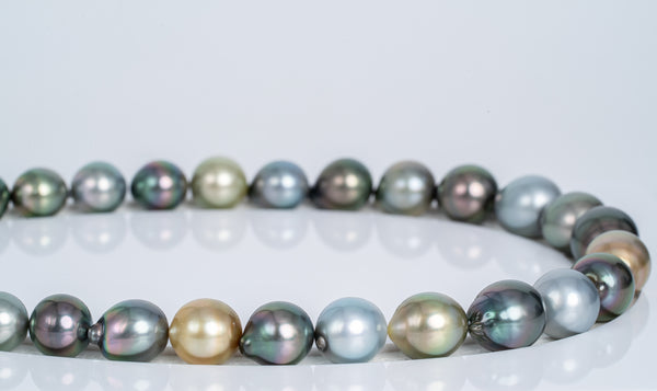 "31pcs ""Montgolfier"" Multi Necklace - Semi-Baroque 10-14mm TOP/AAA quality Tahitian Pearl"