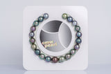 "21pcs ""EPIC I"" Multi Color Bracelet - Round/Near-Round 9-10mm TOP/AAA/AA quality Tahitian Pearl"