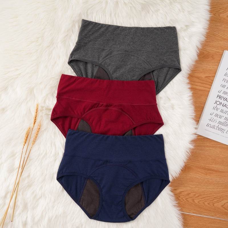 dark color women's period underwear 3 pack