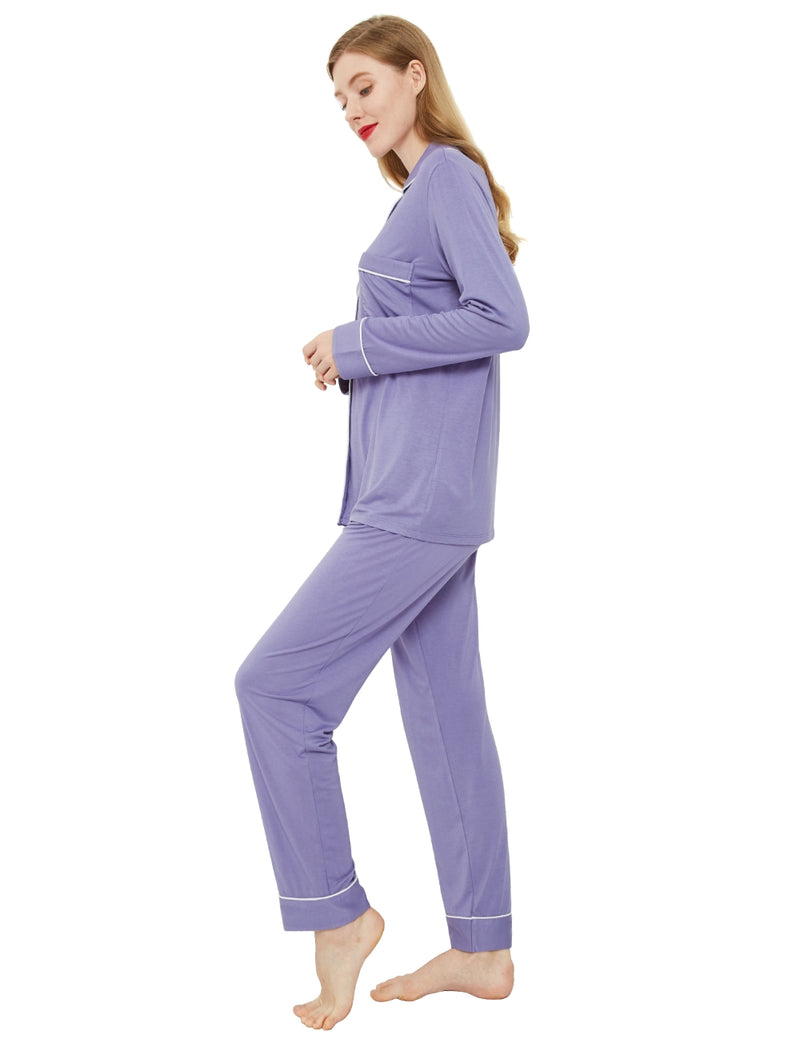 Women's Pajama Set Airy Purple - Innersy Store