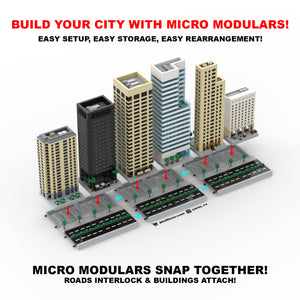 LEGO Micro (Modular) Office Tower & Cafe Instructions