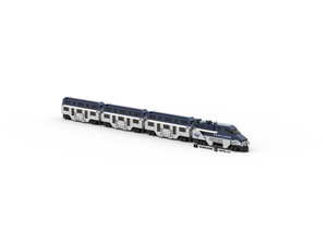 LEGO Micro Amtrak Surfliner Train Instructions