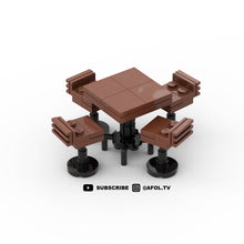 Load image into Gallery viewer, LEGO Rustic Barstools & Table Instructions