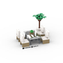 Load image into Gallery viewer, LEGO Modern Glass Dining Table & Chairs Instructions