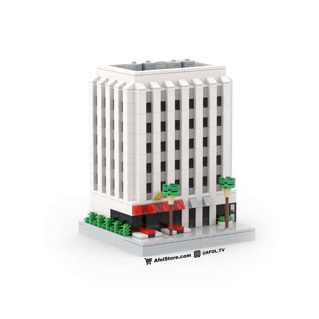 LEGO Micro (Modular) 1960s Office Building & Pizza Shop Instructions
