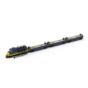 LEGO Micro Shipping Container Train Car Instructions