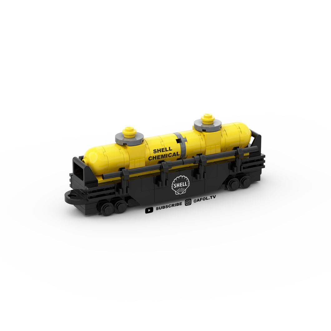 LEGO Micro Dome Tanker Train Car Instructions