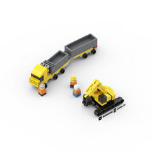 Load image into Gallery viewer, LEGO Micro Double Dump Truck & Heavy Construction Excavator Instructions