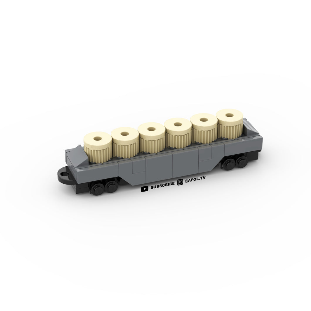 LEGO Micro Flatbed Train Car Instructions